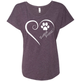 Scottish Terrier, Always in my Heart Ladies Triblend Dolman Sleeve
