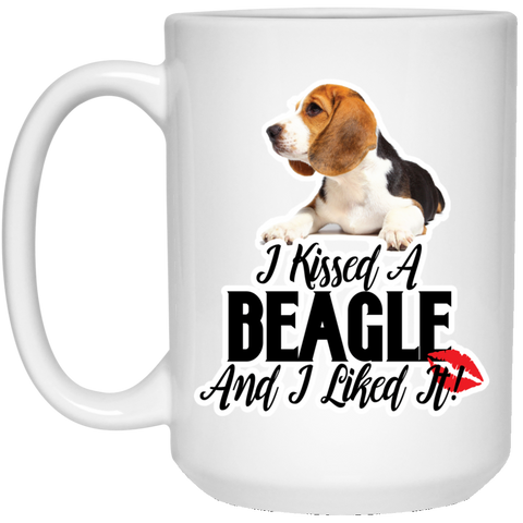 I kissed a Beagle and I liked it 21504 15 oz.Mug