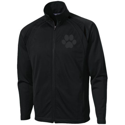 Paw Print Men's Raglan Sleeve Warmup Jacket