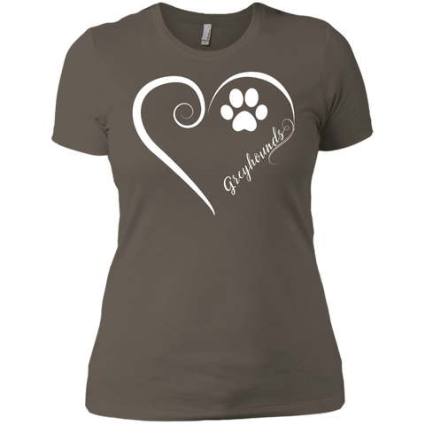 Greyhound, Always in my Heart Ladies' Boyfriend Tee