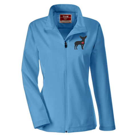 My Heart Chihuahua Team 365 Ladies Soft Shell Jacket