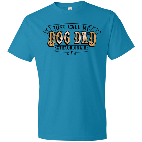 Dog Dad Extraordinaire 980 Anvil Lightweight T-Shirt 4.5 oz