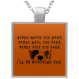 Every Snack You Make  Square Necklace