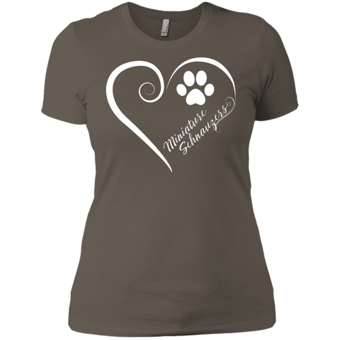 Miniature Schnauzer, Always in my Heart Ladies' Boyfriend Tee