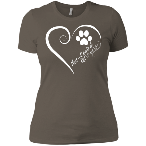Flat-Coated Retriever, Always in my Heart Ladies' Boyfriend Tee