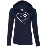 Siberian Husky, Always in my Heart Ladies T-Shirt Hoodie