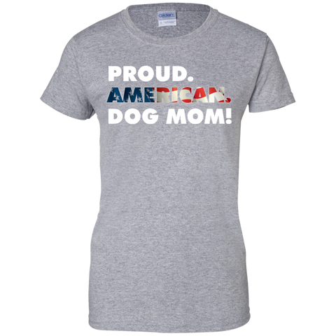 Proud American Dog Mom Ladies Tee