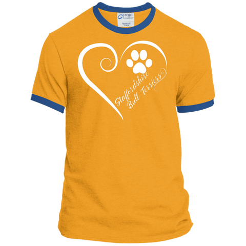 Staffordshire Bull Terrier, Always in my Heart Ringer Tee