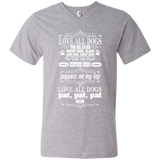 Love All Dogs V-Neck Tee