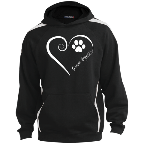 Great Dane, Always in my Heart Colorblock Sweatshirt