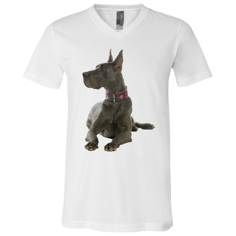 Great Dane Proud Unisex Jersey SS V-Neck T-Shirt