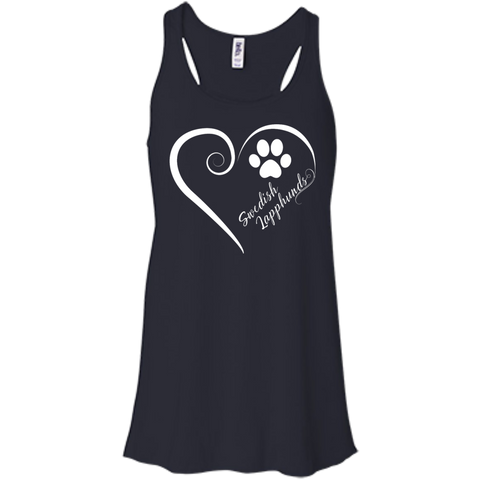 Swedish Lapphund, Always in my Heart  Flowy Racerback Tank