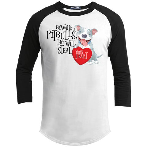 Pit bulls Steal Your Heart Sporty Tee Shirt