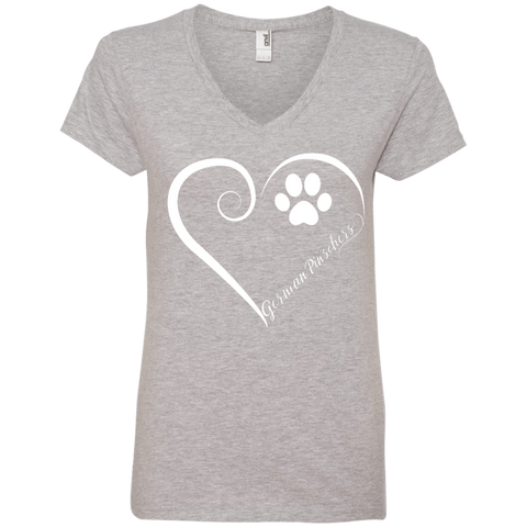 German Pinscher, Always in my Heart Ladies V Neck Tee