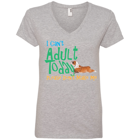 Don't Want to Adult Ladies V-Neck Tee