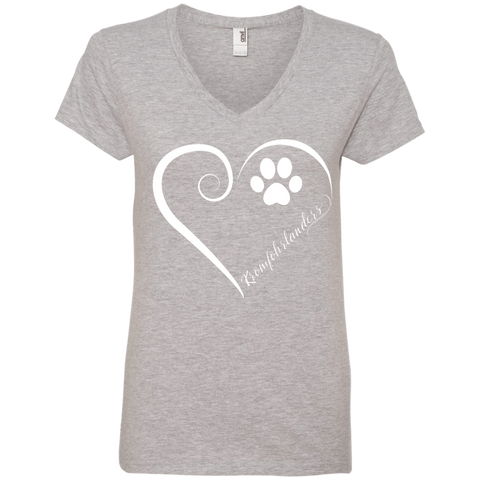 Kromfohrlander, Always in my Heart Ladies V Neck Tee