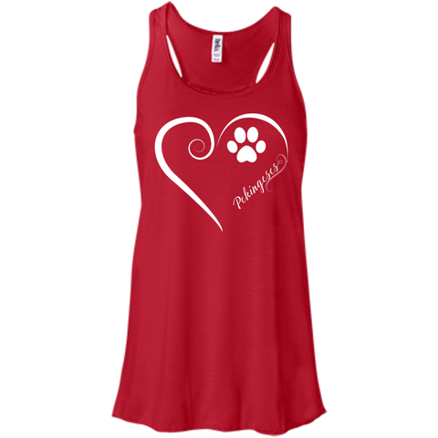 Image of Pekingese, Always in my Heart Flowy Racerback Tank