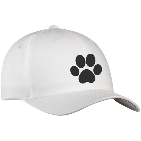 Paw Print Flex Fit Twill Baseball Cap