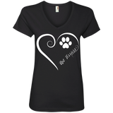 Rat Terrier, Always in my Heart Ladies V Neck Tee