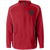 Paw Print 1/4 Zip Poly Pullover