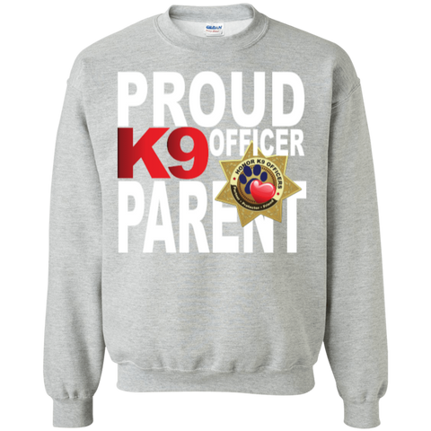 K9 Officer Printed Crewneck Pullover Sweatshirt 8 oz