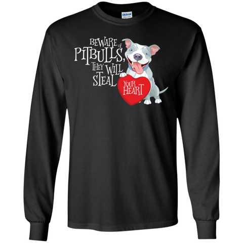 Pit bulls Steal Your Heart LS Ultra Cotton Tshirt