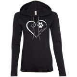 Russian Tsvetnaya Bolonka, Always in my Heart Ladies T-Shirt Hoodie