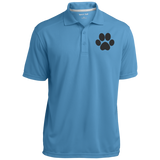 Paw Print Micro-Mesh Three Buttoned Polo