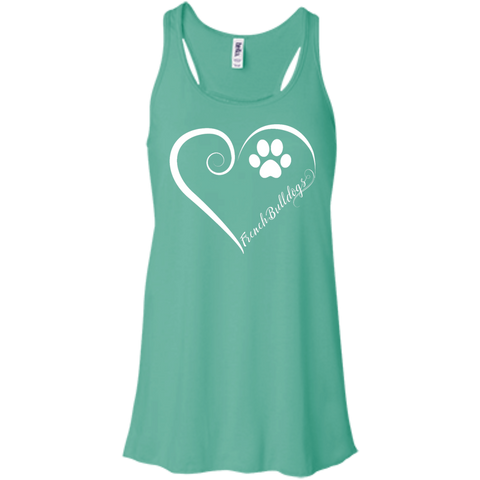 French Bulldog, Always in my Heart Flowy Racerback Tank