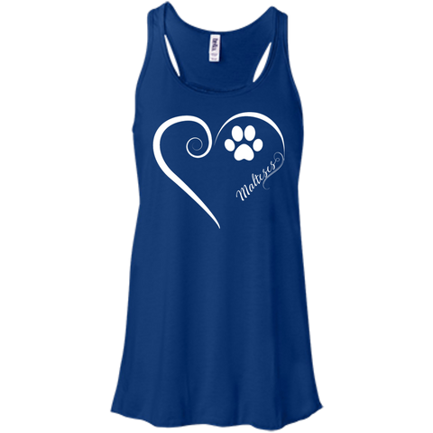 Maltese, Always in my Heart Flowy Racerback Tank