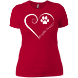 Kerry Blue Terrier, Always in my Heart Ladies' Boyfriend Tee