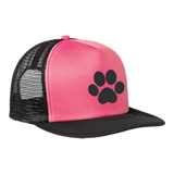 Paw Print Trucker Hat with Snapback