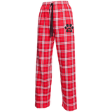 My Heart Paw Print Unisex Custom Embroidered Flannel Pants