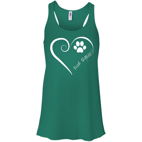 Irish Setter, Always in my Heart  Flowy Racerback Tank