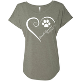 Dandie Dinmont Terrier, Always in my Heart Ladies Triblend Dolman Sleeve