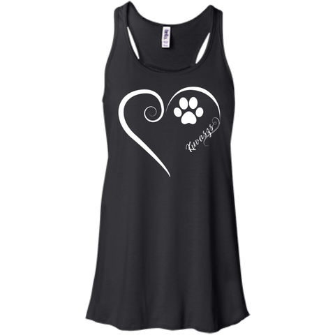 Kuvasz, Always in my Heart  Flowy Racerback Tank