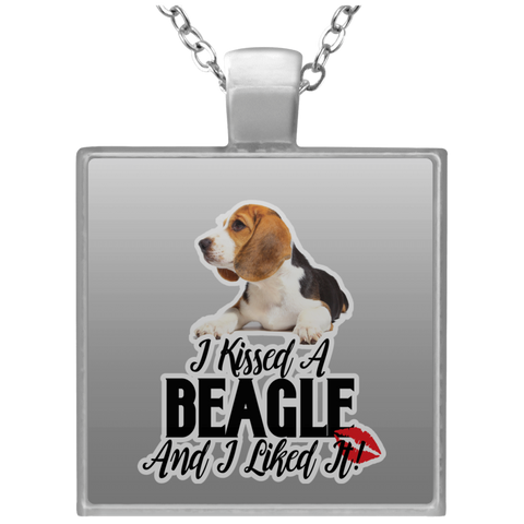 I kissed a Beagle and I liked it UN4684 Square Necklace