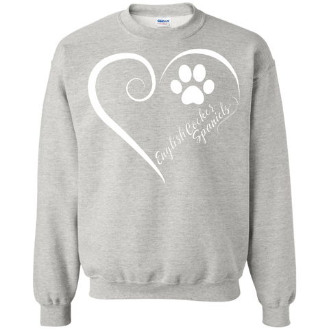 English Cocker Spaniel, Always in my Heart Sweatshirt