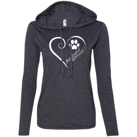 Flat-Coated Retriever, Always in my Heart Ladies LS T-Shirt Hoodie