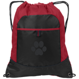 Paw Print Pocket Cinch Pack