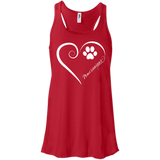 Pomeranian, Always in my Heart Flowy Racerback Tank