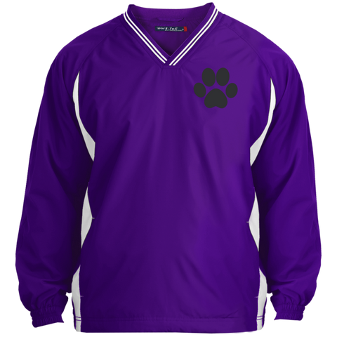 Paw Print Tipped VNeck Wind Shirt