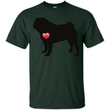 My Heart Pug Ultra Cotton T-Shirt