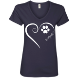 Keeshond, Always in my Heart Ladies V Neck Tee