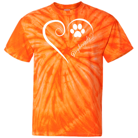 Greyhound, Always in my Heart Tie Dye T-Shirt