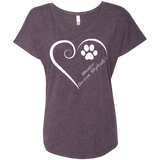 Miniature American Shepherds, Always in my Heart Ladies Triblend Dolman Sleeve