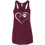 Irish Terrier, Always in my Heart Flowy Racerback Tank