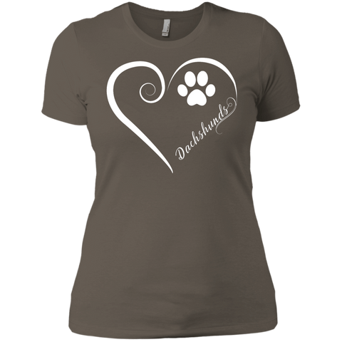 Dachshund, Always in my Heart Ladies' Boyfriend Tee
