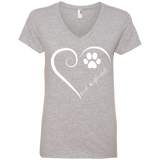 Irish Wolfhound, Always in my Heart Ladies V Neck Tee