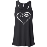 Irish Wolfhound, Always in my Heart Flowy Racerback Tank